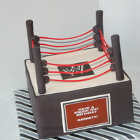 Wwe Wrestling Ring For a boys 8th birthday. I wish I could have gotten the ropes to not droop, but I did this cake as a last minute order and didn't have...