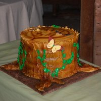 Tree Stump Groom's Cake Groom's cake for my daughter's wedding. The cake is 6 tiers of carrot cake with cream cheese buttercream icing.