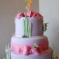Tinkerbell For my little girl's 6th birthday. I was very please with this one. All decorations fondant or gumpaste. Mushrooms have a little bit...