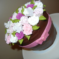 Flower Pot Cake Flower pot cake for a retirement at school. Chocolate cake with baileys filling, chocolate ganache and royal icing roses. I didn't...