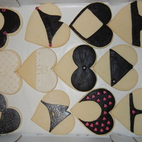 Bachelo Party Cookies Bachelor party cookies, I had too much fun making these! I had the Victoria Secret cat. out, thumbing through, looking for lace to use for...