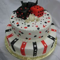 Dice Buttercream icing with fondant accents