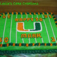 Miami Hurricanes It's football season!!! This cake was for a man's 30th birthday...his favorite team is the Miami Hurricanes.