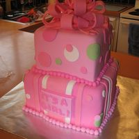 Square Baby Shower Cake