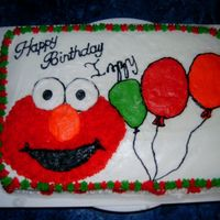 Elmo this was a last minute cake literally thrown together in about an hour for a friend