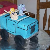 Jeepster, Birthday For 3 Guys  the guys restore old jeepsters, and so i made this for their birthday. My husband is the couch potato, the boss man's nickname is T-...