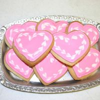 Valentine Cookies   These were fun. Got the idea right here. Don't you love this place?