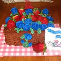 Chocolate Strawberry Basket First of all I would like to thank Tripletmom for this idea. I made it for a friend and she loved it. Strawberry cake, strawberry filling,...