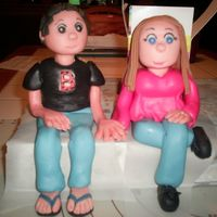 Erica And Dan For my neice's engagement cake. Made from MMF - aine2 is a genius!
