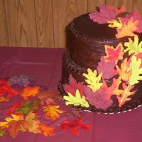 Leaf Cake chocolate buttercream with hand made candy flowers