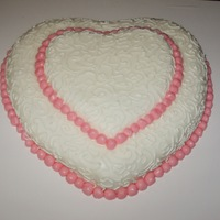 Heart Cake practice cake. Been wanting to try this design for awhile.