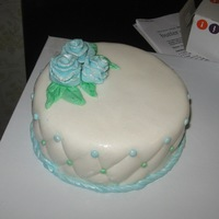 Blue Roses Practice cake.
