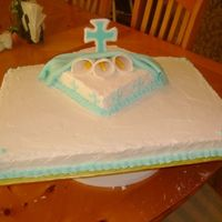 This Is A Baptism Cake well this cake didn't come out like I wanted. this was a Pastel de tres leches. It just didn't work with me very well. then after...