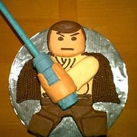"116892402564699.jpg ""LEGO"" TOY VERSION OF OBI WAN. MADE THIS FOR MY NEPHEW'S B-DAY. HE IS REALLY INTO LEGOS & ALL THE STAR WARS MOVIES."