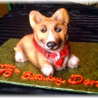 Corgi Dog This is probably my favorite cake sculpture so far. I had fun working on it & I was able to try some new techniques with fondant that I...