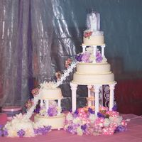 Round Tiered Wedding Cake