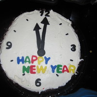 New Year Clock This was a little cake I made for New Year's Eve!