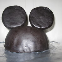 Mickey Mouse Hat Cake This was actually made from brownie mix. :)