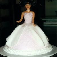 Doll Cake Done In Fondant