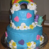 Care Bear Cake (Back View) I liked the back of the cake too, so here's a pic of that.
