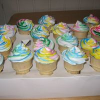 Rainbow Ice Cream Cone Cakes