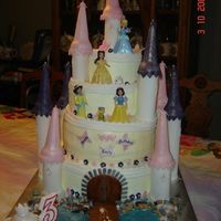 Castle_Cake_2.jpg This is my first Castle Cake which I made for my Granddaughter's 3rd B-day. The bottom and top 2 tiers are dummies and then a 10'...