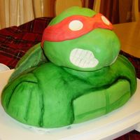 Teenage Mutant Ninja Turtle Cake   Trying another photo!