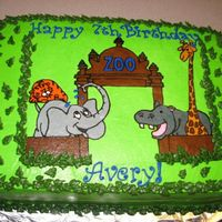 Zoo This was a buttercream transfer using the instructions on this site.