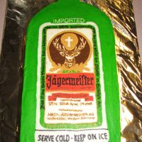 Jager Cake This was for a friends birthday. They wanted it to taste like Jager and look like the bottle. It has a few flaws, but it was as close as I...