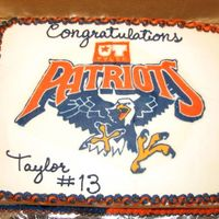 Ut Patriots Buttercream transfer
