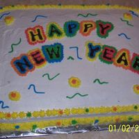 New Year Cake   This is my first cake that I have done!