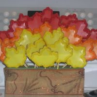 Fall Leaves This is an example of a project gone wrong but then gone right again! This was supposed to be a Wilton Turkey cookie bouquet but when I...