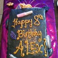 Glamour Party Cake This was a VERY last minute order! The little girl was having a Spa & Glamour party and her mom really wanted a black and gold cake. I...