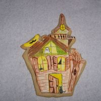 Haunted House Cookie another haunted house the possibilities are endless hand painted thanks for looking