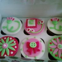 Pink And Green Cupcakes I found the prettiest party decorations and themed the cupcakes around them. I am even saving a cup so I can refer back to it and make...