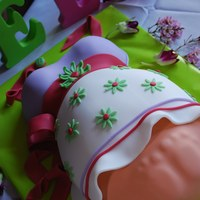 Baby Belly Shower Cake My latest baby belly cake. The 2nd one with feet showing.