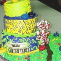 Topsy Turvy Willy Wonka Cake This was for a client who's youngest son loved the new Willy Wonka movie. So I did a topsy turvy vanilla butter cake with fluffy...