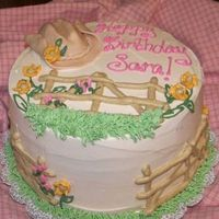 Cowgirl Birthday Cake This was a cake for a client who's daughter rode horses and loved cowgirl things. She wanted it to be non-cartoony, so this is what I...