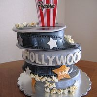 "Hollywood Cake This cake was for a ""Hollywood"" themed sweet 16 birthday."