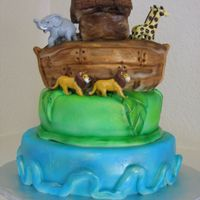 Noah's Arc Cake This is a picture of a Noah's Arc Cake I did for my friend's baby shower. It's covered in marshmallow fondant and I used an...