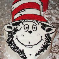 Cat In The Hat Carved Cake This cake was carved and iced in buttercream to match Cat in the Hat.