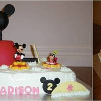 Mickey Mouse Clubhouse Mickey Mouse cake for 2nd Birthday Party.