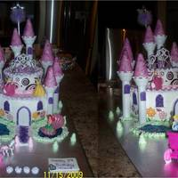 Princess Castle Cake Made this for my niece's third birthday.....She loves princesses so it was obvious....she needed this cake for her birthday!
