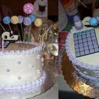 Bingo Cake 70th Birthday Cake for a 'Bingo Queen'. Left 0-70 as the only spot left on the card, and the biggest bingo ball. Everything is...
