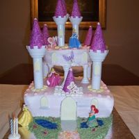 Princess Cake Cake using Wilton Romantic Castle Kit. After I made this cake once, its the most commonly requested cake for little girls.