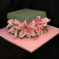 Elena And Dean's Engagement Cake This is just an 8 inch square with a lid also made from cake, all covered in fondant and sponged to get the colour just right. The...