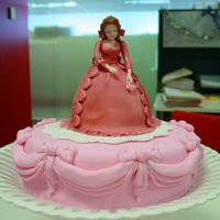 Pink Lady In Cake
