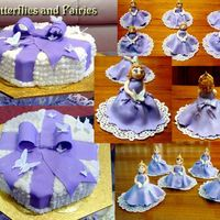 Butterflies And Fairies Cake is vanila with raspberries covered with condensed milk buttercream and lace in sugarpaste. Butterflies made of modeling paste. Fairies...