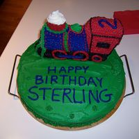 Train Cake  My first attempt at cake decorating. I haven't taken classes, just got ideas from this great site. Need to work on my writing. Is the...