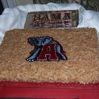 Univ. Of Al German Chocolate Groom's Cake German Chocolate cake with FBCT logo.
